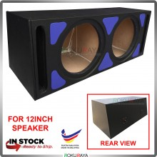 12'' 2Hole Double PVC Sub Woofer Speaker Hot Box Mixture 6' and 4' Thickness Plywood (Blue)