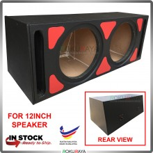 12'' 2Hole Double PVC Sub Woofer Speaker Hot Box Mixture 6' and 4' Thickness Plywood (Red)