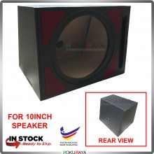 10'' 1Hole Single PVC Sub Woofer Speaker Hot Box Mixture 6' and 4' Thickness Plywood (Red)