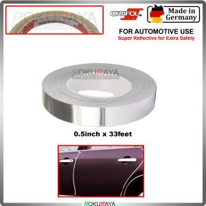 [ORAFOL GERMANY] Silver Lining Chrome Universal Reflective Vinyl Wrap Film Car Sticker Decal Sheet Bubble Free