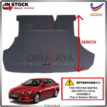 Proton Inspira CKD (2nd Gen) 2013-2015 (38 Inch) Custom Fit 15mm Rear Bonnet Spare Tyre Tire Tayar Cover Back Hard Board Papan (Carpet Wrapped)