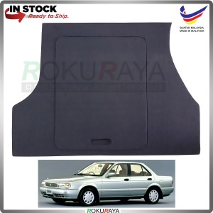 Nissan Sentra B13 Custom Fit 15mm Rear Bonnet Spare Tyre Tire Tayar Cover Back Hard Board Papan (Carpet Wrapped)
