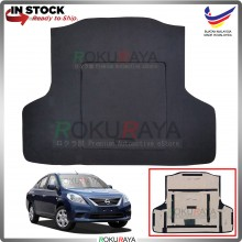 Nissan Almera N17 Custom Fit 15mm Rear Bonnet Spare Tyre Tire Tayar Cover Back Hard Board Papan (Carpet Wrapped)
