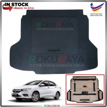 Honda City (6th Gen) 2013 Custom Fit 15mm Rear Bonnet Spare Tyre Tire Tayar Cover Back Hard Board Papan (Carpet Wrapped)