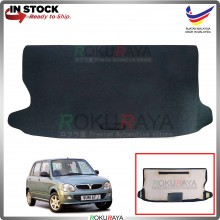 Perodua Kelisa Custom Fit 15mm Rear Bonnet Spare Tyre Tire Tayar Cover Back Hard Board Papan (Carpet Wrapped)