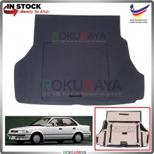Toyota Corolla (6th Gen) AE90 1987-1991 Custom Fit 15mm Rear Bonnet Spare Tyre Tire Tayar Cover Back Hard Board Papan (Carpet Wrapped)