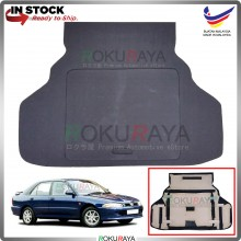 Proton Wira Aeroback Custom Fit 15mm Rear Bonnet Spare Tyre Tire Tayar Cover Back Hard Board Papan (Carpet Wrapped)