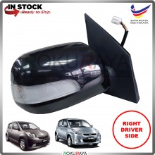 Perodua Myvi (1st Gen) 2005-2010 OEM Auto Power Flip (5 Wire) Side Door Mirror LED Signal Light Lamp (Black) (RIGHT)