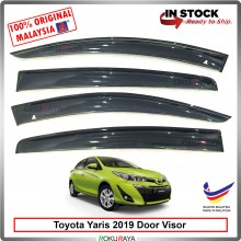Toyota Yaris 2019 AG Door Visor Air Press Wind Deflector (Big 12cm Width)