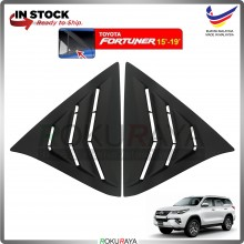 Toyota Fortuner AN150 AN160 (2nd Gen) 2015 Mustang Rear Triangle Side Window Cover Louvre (Matt Black)