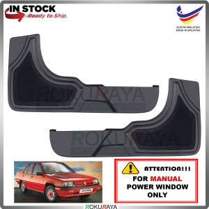Proton Saga Iswara 1.3 (MANUAL POWER WINDOW) Side Door Panel Speaker Board Cover Pocket Holder PVC Wrapped (BLACK)