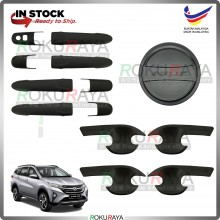 Perodua Aruz 2019 (Door Inner + Outer + Fuel Cap) Trim Cover ABS Plastic (Matt Black)