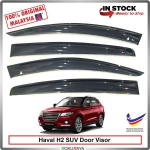 Haval H2 SUV AG Door Visor Air Press Wind Deflector (Big 12cm Width)
