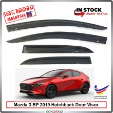 Mazda 3 BP Hatchback 2019 AG Door Visor Air Press Wind Deflector (Medium 8cm Width)