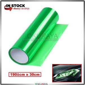 [30CM x 100CM] 3ply Car Motorcycle Tint Fog Head Lamp Brake Tail Light Vinyl Film Sticker Wrap (Green)