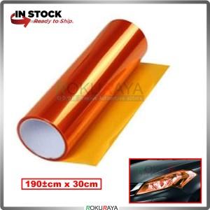 [30CM x 100CM] 3ply Car Motorcycle Tint Fog Head Lamp Brake Tail Light Vinyl Film Sticker Wrap (Orange)