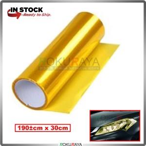[30CM x 100CM] 3ply Car Motorcycle Tint Fog Head Lamp Brake Tail Light Vinyl Film Sticker Wrap (Yellow)