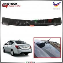 Nissan Almera Vortex Generator Shark Fin Aerodynamic Rear Windscreen Glass Visor Diffuser Diffusor