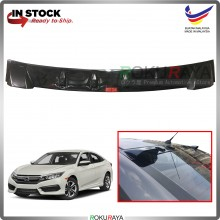 Honda Civic 2016 Vortex Generator Shark Fin Aerodynamic Rear Windscreen Glass Visor Diffuser Diffusor