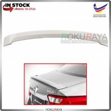 Proton Saga VVT (3rd Gen) 2016 ABS Plastic OEM Rear Bonnet Trunk Boot Lip Spoiler (Cotton White)