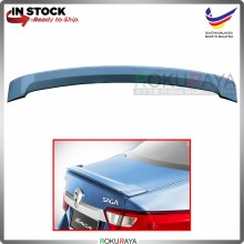 Proton Saga VVT (3rd Gen) 2016 ABS Plastic OEM Rear Bonnet Trunk Boot Lip Spoiler (Topaz Blue)