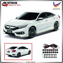 Honda Civic FC (10th Gen) 2016 ABS Plastic Bodykit Front Side Rear Skirting Clips Rubber Lining (Modulo)