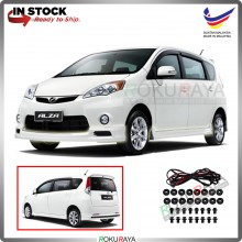 Perodua Alza Old 2009 ABS Plastic Bodykit Front Side Rear Skirting Clips Rubber Lining Special Edition (SE)