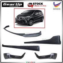 Perodua Myvi (3rd Gen) 2018 ABS PU Rubber Bodykit Front Side Rear Full Set Skirting (Gear Up)