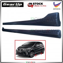 Perodua Myvi (3rd Gen) 2018 PU Rubber Bodykit Side Skirting Pair Gear Up (Raw Material)