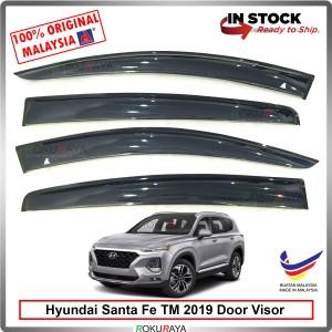 Hyundai Santa Fe TM (4th Gen) 2019 AG Door Visor Air Press Wind Deflector (Big 12cm Width)