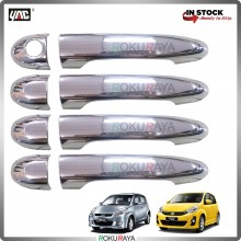 Perodua Myvi (1st & 2nd Gen) Door Handle Cover Garnish Trim ABS Plastic (CHROME OUTER)