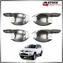 Mitsubishi Pajero Sport Door Handle Cover Garnish Trim ABS Plastic (CHROME BOWL)