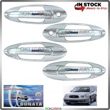 Hyundai Sonata EF (4th Gen) 98-05 Door Handle Cover Garnish Trim ABS Plastic (CHROME OUTER)