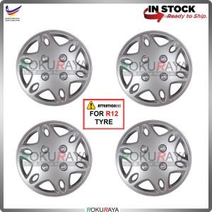 4in1 Universal R12'' Inch Car Wheel Cover Tyre Center Hub Cap Steel Rim (Kancil New Design)