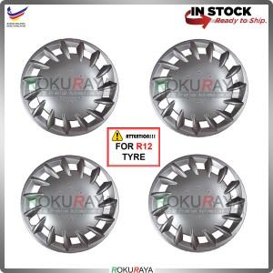 4in1 Universal R12'' Inch Car Wheel Cover Tyre Center Hub Cap Steel Rim (Viva Design)