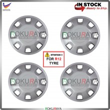 4in1 Universal R12'' Inch Car Wheel Cover Tyre Center Hub Cap Steel Rim (Viva OEM Design)
