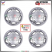 4in1 Universal R13'' Inch Car Wheel Cover Tyre Center Hub Cap Steel Rim (Wira Design)