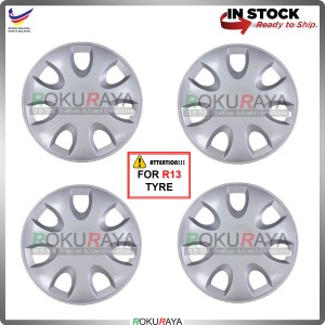4in1 Universal R13'' Inch Car Wheel Cover Tyre Center Hub Cap Steel Rim (Saga BLM FLX Design)