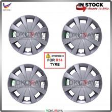 4in1 Universal R14'' Inch Car Wheel Cover Tyre Center Hub Cap Steel Rim (Type R Design)