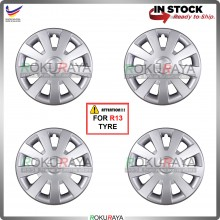 4in1 Universal R13'' Inch Car Wheel Cover Tyre Center Hub Cap Steel Rim (GT Design)