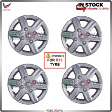 4in1 Universal R13'' Inch Car Wheel Cover Tyre Center Hub Cap Steel Rim (GTI Design)