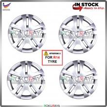 4in1 Universal R14'' Inch Car Wheel Cover Tyre Center Hub Cap Steel Rim (Toyota Avanza Design)