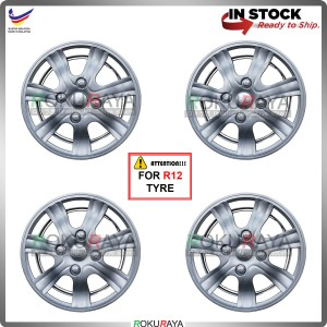 4in1 Universal R12'' Inch Car Wheel Cover Tyre Center Hub Cap Steel Rim (14 Rim Design)