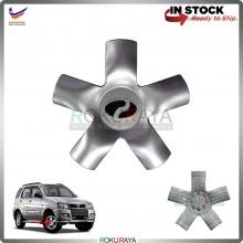 Perodua Kembara Original Genuine Part Sport Rim Center Wheel Cap Cover (SILVER)
