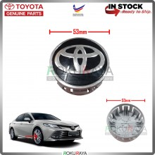 Toyota 53mm Diameter Original Genuine Part Sport Rim Center Wheel Cap Cover (BLACK CHROME)