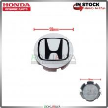 Honda 58mm Diameter Original Genuine Part Sport Rim Center Wheel Cap Cover (BLACK WHITE)
