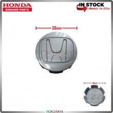 Honda 58mm Diameter Original Genuine Part Sport Rim Center Wheel Cap Cover (GREY)