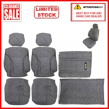 Fabric Sponge Cotton Universal Car Seat Cushion Covers (Comi) Grey