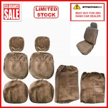 Alcantara Leather Fabric Sponge Cotton Universal Car Seat Cushion Covers (Brown)