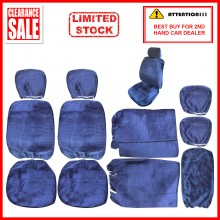 Alcantara Leather Fabric Sponge Cotton Universal Car Seat Cushion Covers (Blue)